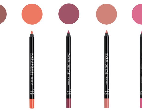 make up for ever aqua lip vandeniui atsparus lūpų kontūro pieštukas