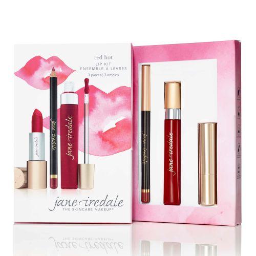 Jane Iredale lip kit dekoratyvinės kosmetikos rinkinys lūpoms #red hot