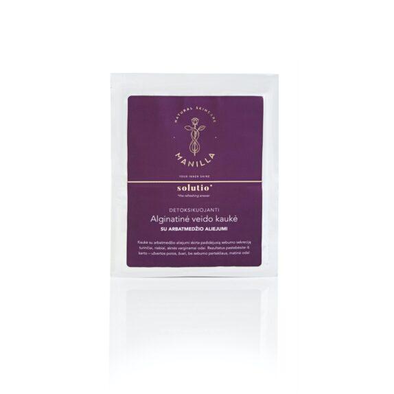Detoksikuojanti alginatinė kaukė su arbatmedžio aliejumi | SOLUTIO, 1vnt
